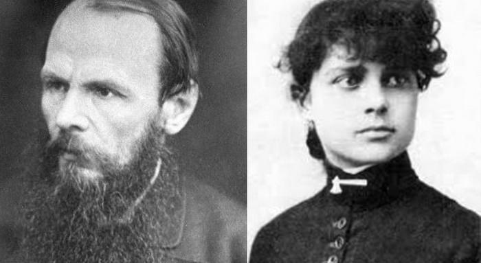 Русский писатель Достоевский и переводчица его романов на английский Констанс Гарнетт.
