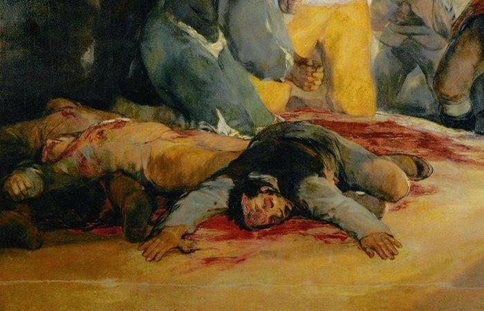 Кровь на картине. фото: aria-art.ru