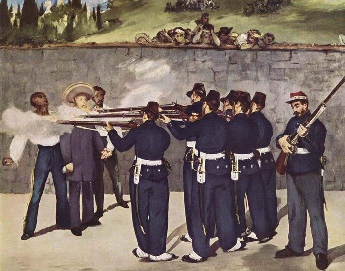Расстрел императора Максимилиана. Эдуар Мане. фото: museum-online.ru