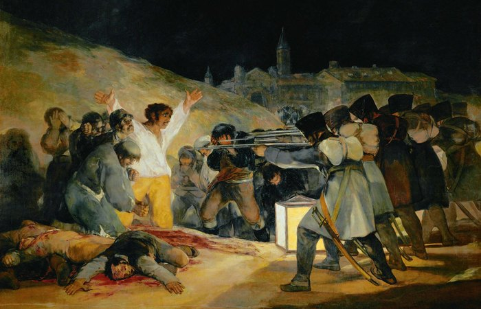 3 мая 1808 в Мадриде. Франсиско Гойя. фото: aria-art.ru