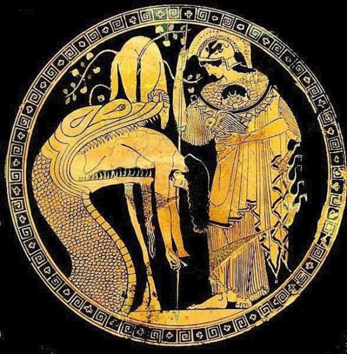 Афина, одетая в эгиду с изображением головы Горгоны Медузы (музей Ватикана). / Фото: thevintagenews.com