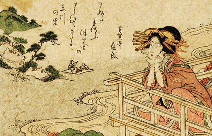 Отсылкой к японскому искусству являются главная героиня не в центре полотна.