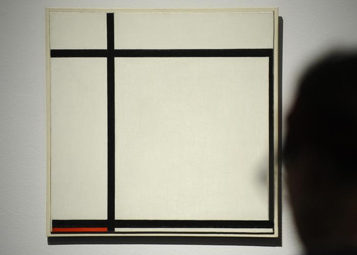 Линии и цветовые комбинации на плоской поверхности.
