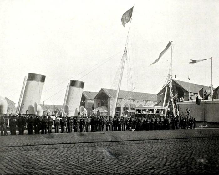 Встреча на дебаркадере в Шербурге.