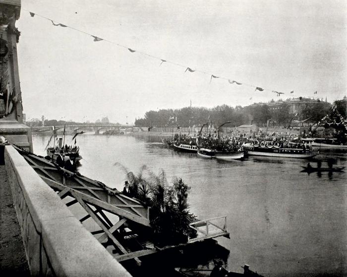 Торжественная закладка моста императора Александра III через Сену (фрагмент 2).