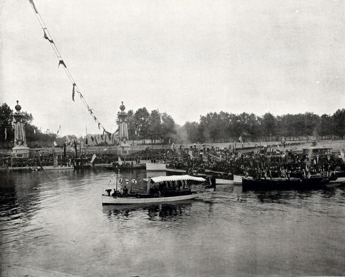 Торжественная закладка моста императора Александра III через Сену (фрагмент 3).