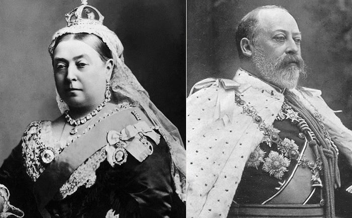 Британская королева Виктория и ее сын Эдуард VII.