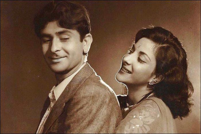 Самый известный «бродяга» Радж Капур и «мать его фильмов» Наргис.