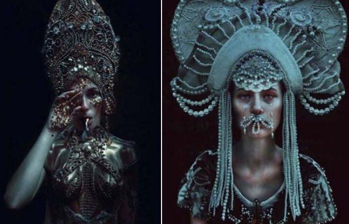 Сюрреалистическо-языческие фантазии: портреты в стиле фэнтази.