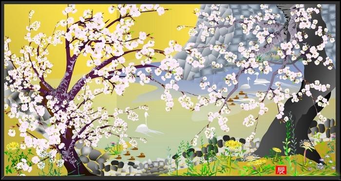 Одна из картин Тацуо Хориучи .