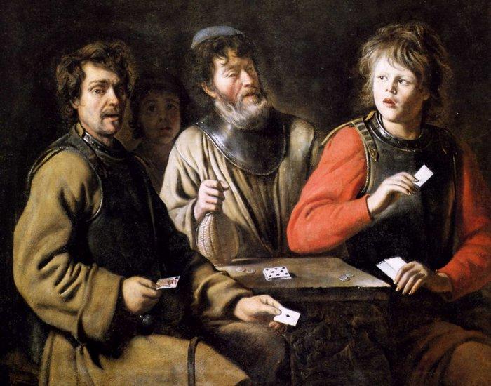 Игроки в карты, Луи Ленен.