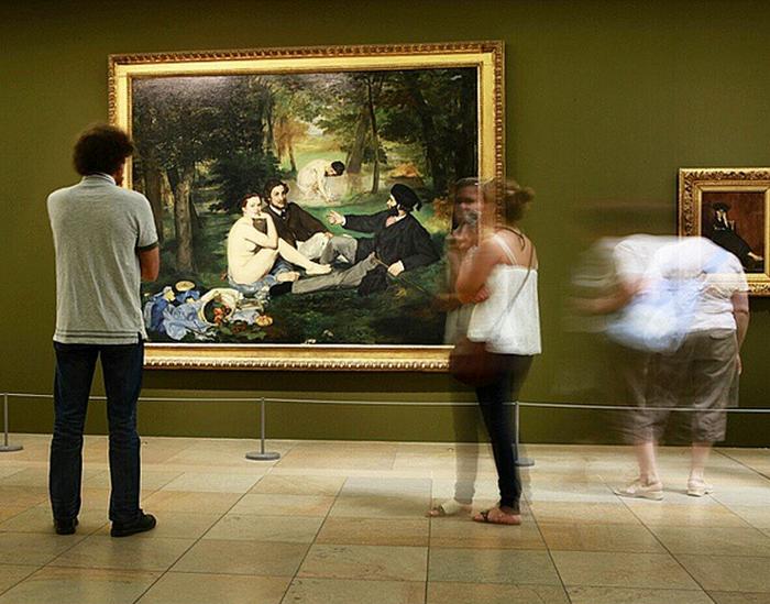 Картина Мане в галерее.