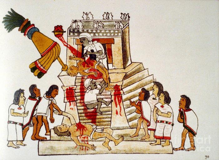 Ритуалы, требующие человеческих жертвоприношений.