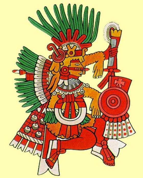 Камаштли - Бог войны и огня.
