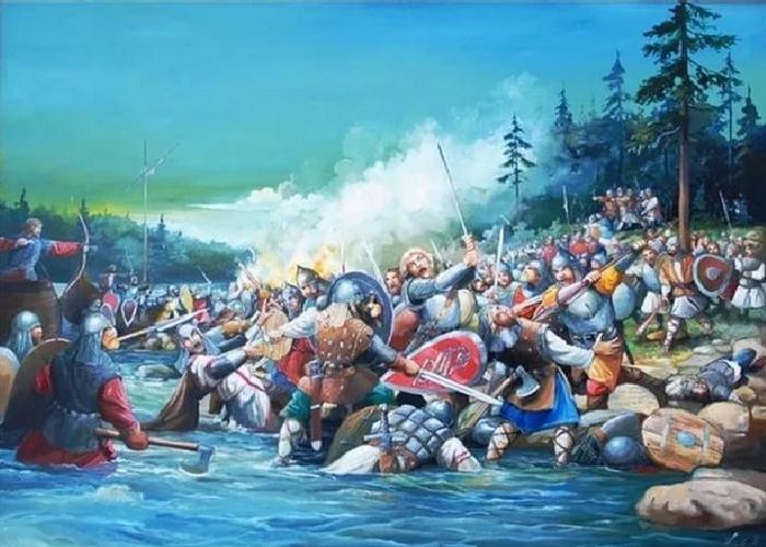Битва на Неве 15 июля 1240 года./ Фото: kremlion.ru