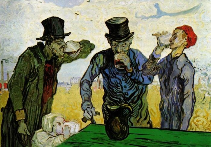 Винсент Ван Гог «Пьяницы»