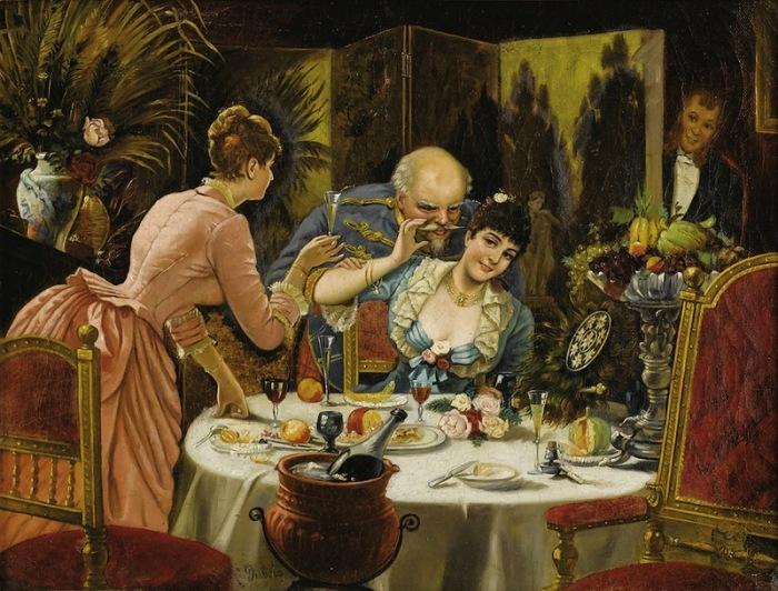 Л. Дюбуа (Континентальная школа XIX века) «Отдельный кабинет».