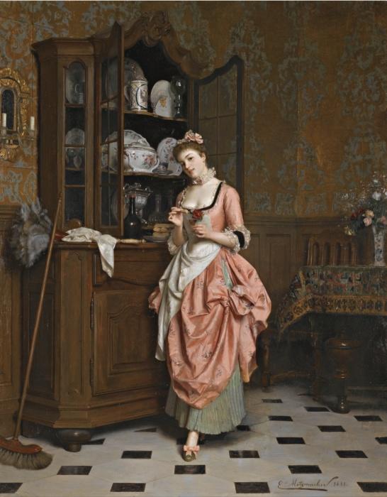 Emile Pierre Metzmacher (Франция, XIX век) «Аперитив» 1881