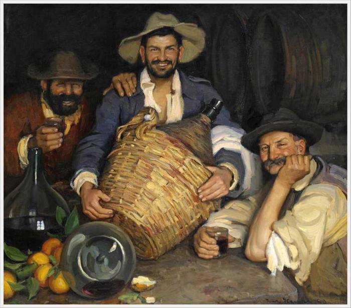 Ивар Камке (Швеция, 1882-1936) «Три испанских винодела».
