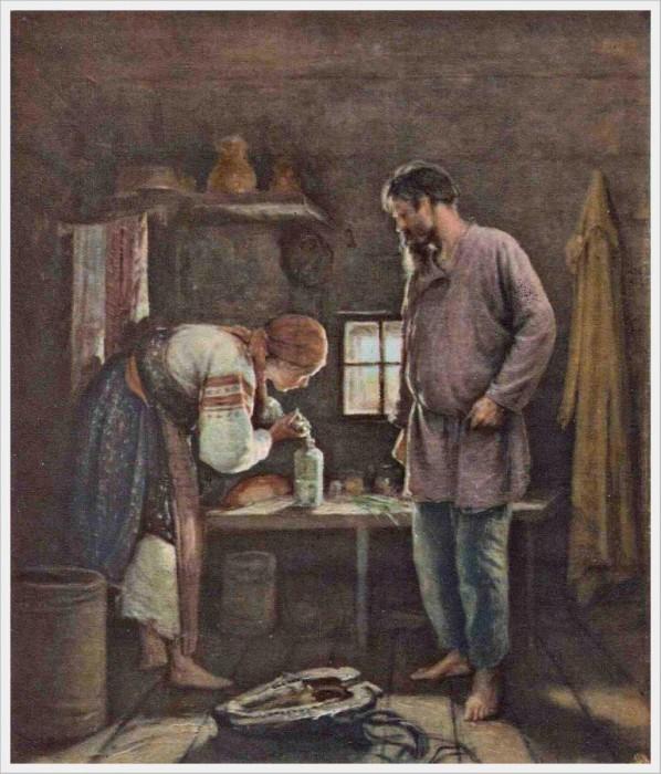 Архипов Абрам Ефимович (Россия, 1862-1930) «Пьяница».