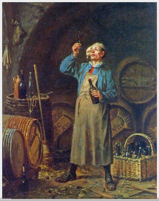 Дэвид Кол (Бельгия, 1822-1900) «Любитель вин».
