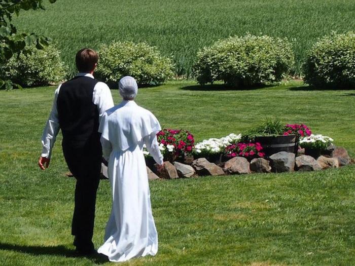 Молодожены амиши.