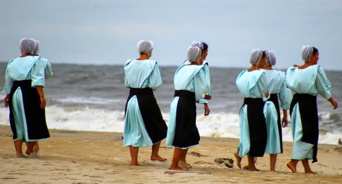 Традиционная женская одежда амишей.