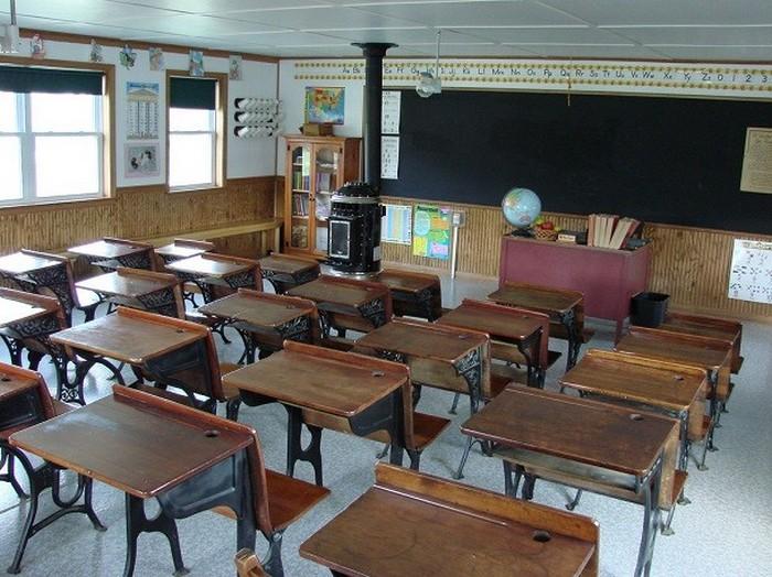 Учебный класс школы амишей.