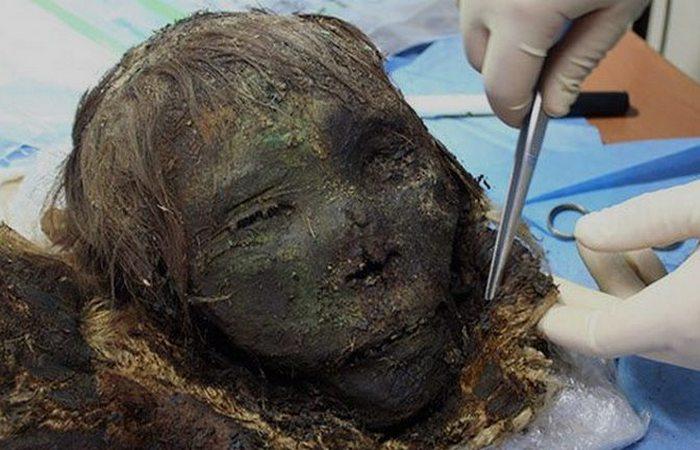 Череп женщины с персидской внешностью из Сибири.