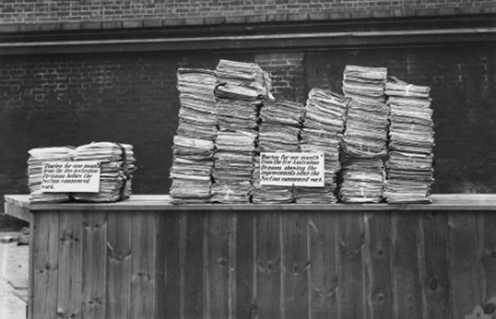 Тысячи личных заметок и дневников времен Первой мировой войны.