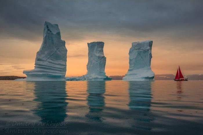 Алые паруса в Гренландии.