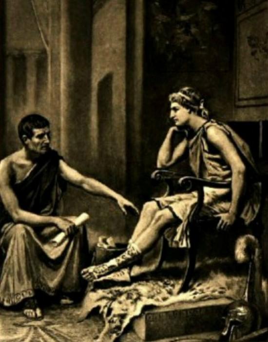 Александр и Аристотель. / Фото:list25.com