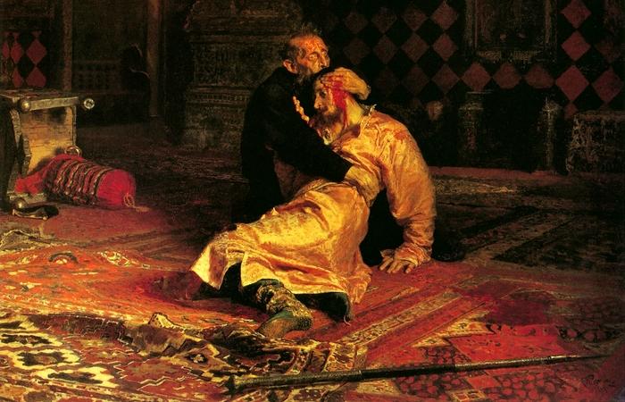 Иван Грозный убивает своего сына. фото:  dz-online.ru