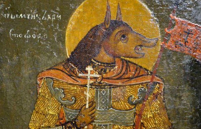 Святой Христофор с собачьей головой.