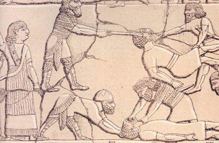 Ассирийская армия: психологический террор./фото: listverse.com