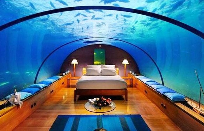 Rangali Island Resort на Мальдивах.