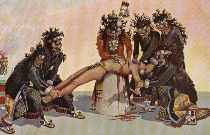 Жуткий ритуал ацтеков: праздник Тошкатль. / Фото: listverse.com