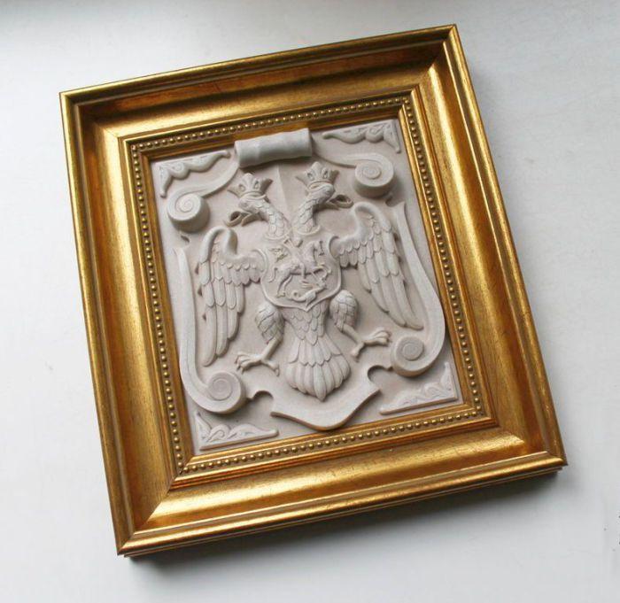 Панно-барельеф Российский герб.