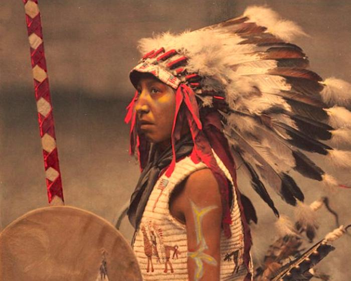 Чарльз Американский Конь (сын вождя племени Оглала лакота), 1901 год.