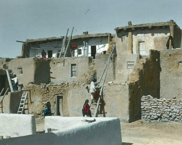 Поселение Акома в Нью-Мексико, начало 1900-х.