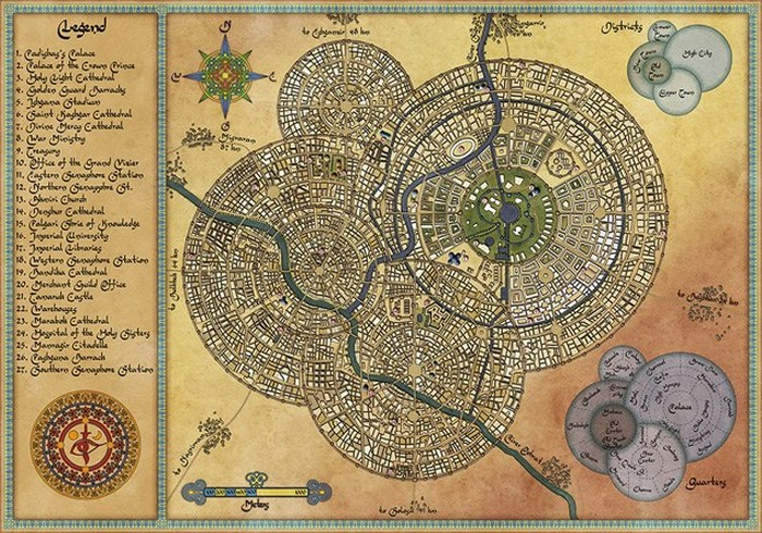 Красивый атлас: фантастическая карта Самарканда.