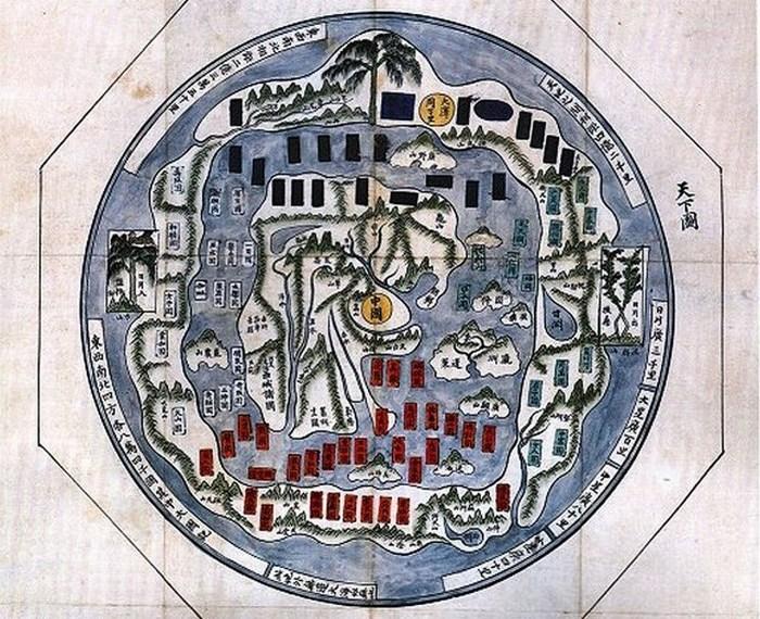 Красивый атлас: Cheonhado, «Карта поднебесного мира».