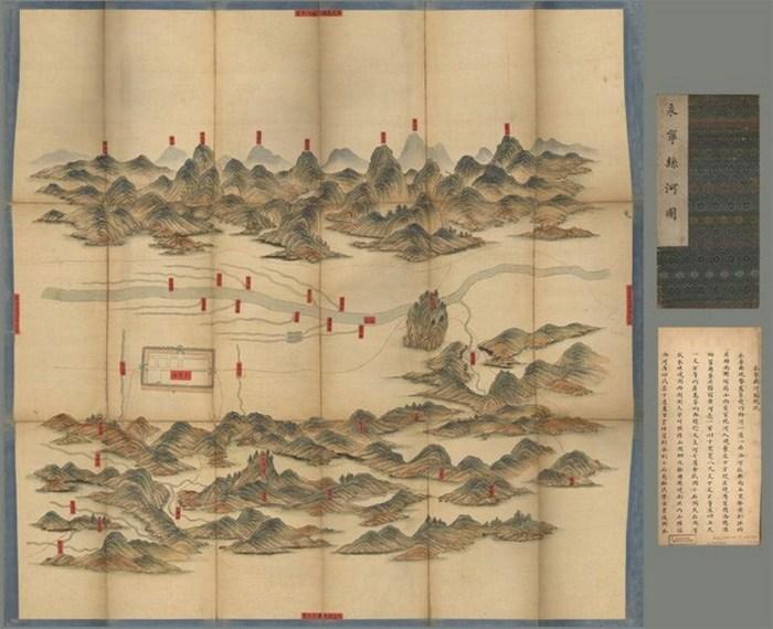 Красивый атлас: карта Графства Yongying в Китае.