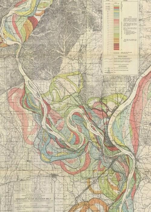 Красивый атлас: геологические исследования долины реки Миссисипи.