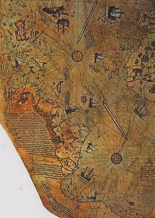 Красивый атлас: карта Пири Рейса.