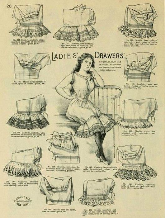 Реклама женского белья.