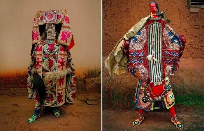 Костюм эгунгун на фестивале вуду в Бенине.
