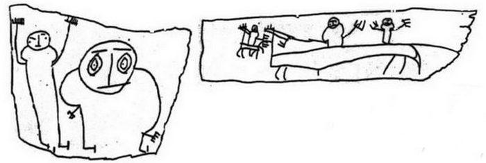 Рисунок Онфима на бересте.