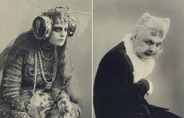 Призрачные сюрреалистические фотографии актёров, игравших в спектакле Станиславского.