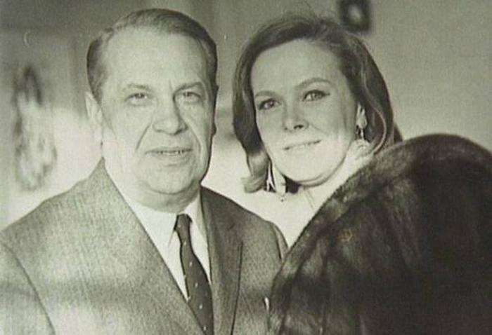 Марк Бернес и Лилия Бодрова.